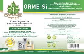 Krzem organiczny z borem, potasem oraz stężonymi mikroelementami z soli 1000ml w butelce szklanej