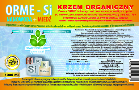 Krzem organiczny LEMON NANOWODA z miedzią, borem, stężonymi mikroelementami z soli oraz olejkiem cytrynowym. (2)